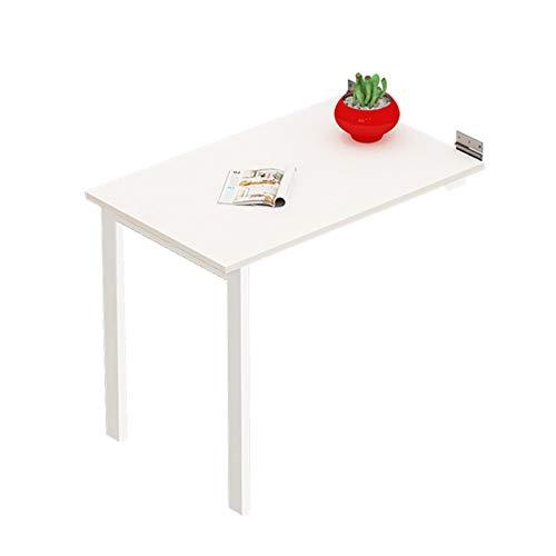 PPOSH Tavolo da Parete Pieghevole, Tavolo da Computer Pieghevole, Tavolo da Pranzo Pensile, Tavolo da Parete Invisibile Multifunzionale for Cucine da Ufficio Supporto per Notebook