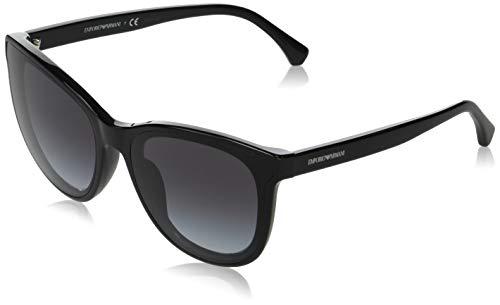 Armani EA4125F 50018G-61 - Gafas de sol con montura negra, degradado gris EA4125F-50018G-61