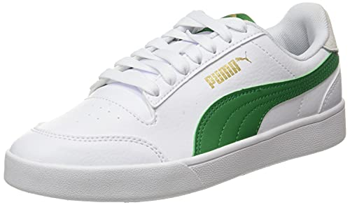 Puma Shuffle, Zapatillas Deportivas Unisex Adulto, White-Amazon Green, 43 EU