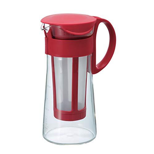 HARIO Mini Mizudashi - Cafetera para café frío (600 ml), Color Rojo