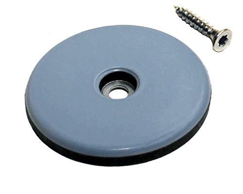 8 Stück Teflon-Möbelgleiter Ø 50 mm mit Schrauben, PTFE-Gleiter, Teflongleiter