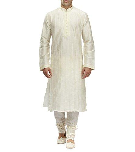 Royal Kurta Mira Herren-Pyjama Bollywood India Pakistani Medium Offwhite