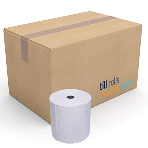 Rollos térmicos de 80 x 70 (compatibles con 80 x 80 mm), 40 rollos – 80 mm x 80 mm x 12,7 mm Core