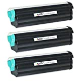 LD Compatible Toner Cartridge Replacement for Okidata 43502001 Type 9 High Yield (Black, 3-Pack)