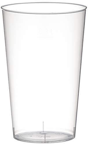 Papstar Trinkbecher / Plastikbecher (25 Stück) 0.3 l aus Polystrol-Kunststoff, Ø 7.8 x 11.8 cm, transluzent, unzerbrechlich, spülmaschinenfest und wiederverwendbar für Events und für unterwegs #16147