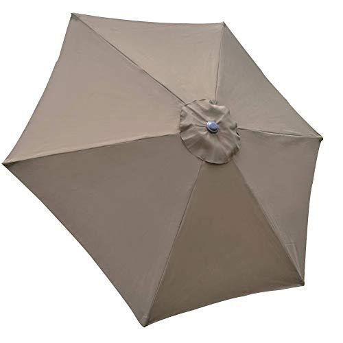 ZSooner Sonnenschirm-Überdachung, UV-Schutz, für Terrasse, wasserdichter Polyester-Regenschirm im Hinterhof, hält kühl und langlebig, für den Garten, Ersatzbezug (Khaki)
