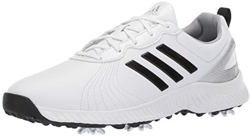 adidas Women's Response Bounce Golf Shoe, FTWR White/core Black/Silver Metallic, 6.5 M US