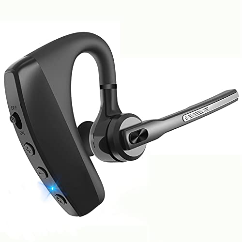 Bluetooth ヘッドセット Bluetooth 5.0 イヤホン マイク内蔵 日本技適マーク取得品 イギリス輸入CSRチップ 耳掛け型 ノイズキャンセリング ハンズフリー通話 バッテリー 左右耳兼用 超高音質 快適装着 ビジネス 受話器が回転できる 各種類設備に対応 日本語説明書付き