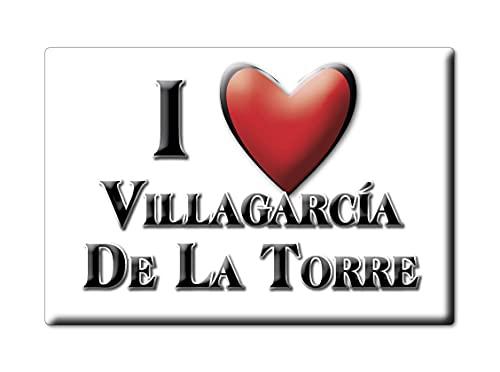 Enjoymagnets VILLAGARCÍA DE LA Torre (BA) Souvenir IMANES DE Nevera ESPAÑA Extremadura IMAN Fridge Magnet Corazon I Love