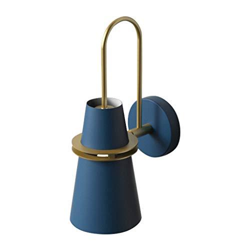 JYHZ Parete Lampada Creativa Camera Semplice Modern Living Scala Corridoio Camera da Letto Caldo Lampada da Comodino (Color : Blue)