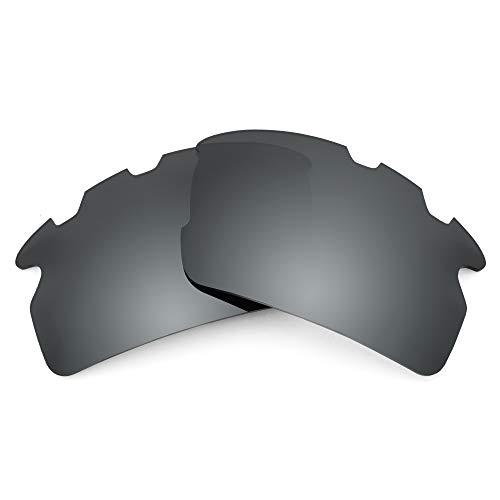 Revant Lentes de Repuesto Compatibles con Gafas de Sol Oakley Flak 2.0 Vented (Ajuste Asiático), No Polarizados, Negro Cromado MirrorShield