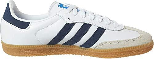 Adidas Originals Samba OG Zapatillas Moda Hombres Blanco/Azul Zapatillas Bajas Shoes