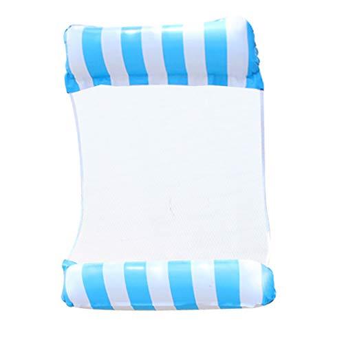 horen Wasserhängematte mit Luftpumpe im Sommer Aufblasbarer Schwimmender Liegestuhl im Freien Luftsofa für Schwimmendes Poolbett Poolmatte für Erwachsene Und Kinder
