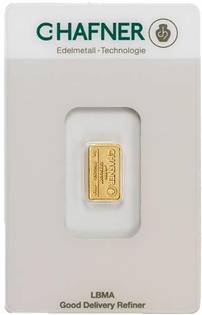 1 Gramm Gold 1 gr Goldbarren Barren Feingold 999,9 C. Hafner