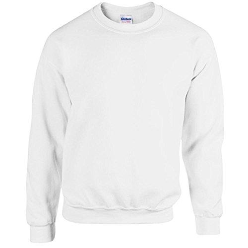 Gildan Heavy Blend Erwachsenen Crewneck Sweatshirt 18000 S, White