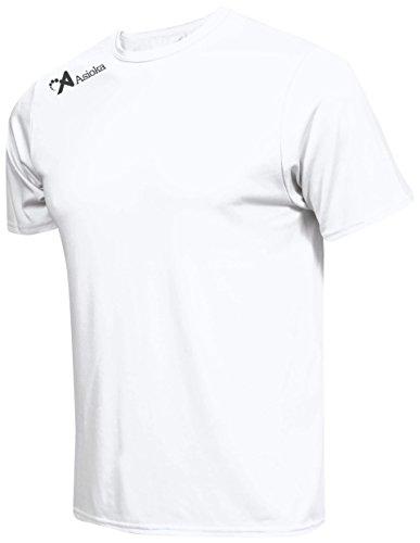 Asioka 130/16 Camiseta Deportiva, Unisex Adulto, Blanco, L