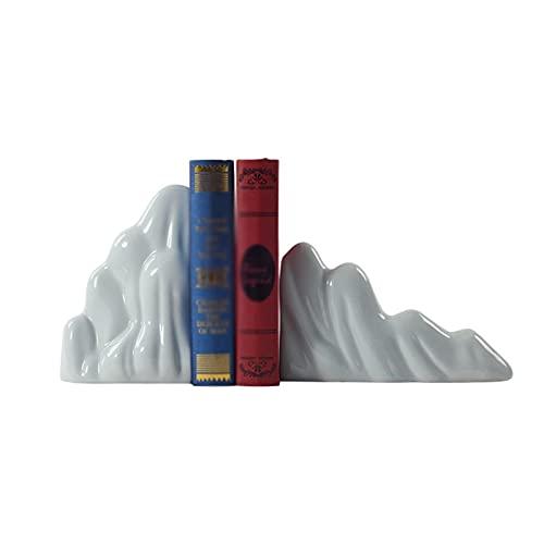 Sujeta Libros Sujetalibros Chino Creativo Rockery Sookends Bookendshelf Ornamentos de cerámica Puede acomodar Grueso Libro Sookend Office Sala de estar Craft Ceramic Decoration Creativa Sujetalibros