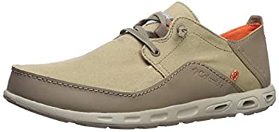 Columbia Men's Bahama Vent PFG Lace Relaxed Boat Shoe, Tan/Tangy Orange, 14 Wide