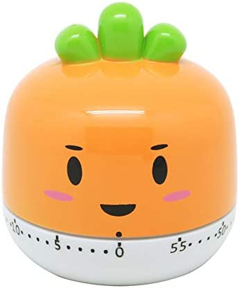 FidgetGear Kitchen Vegetable Fruit Shape Timer Cute Cooking Mechanical Home Decor Orange product image