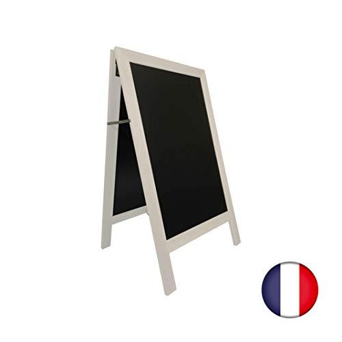 Staffelei Gehwegstopper mit Holzrahmen, Farbe Grau gekalkt, Maße: 127 x 75 cm