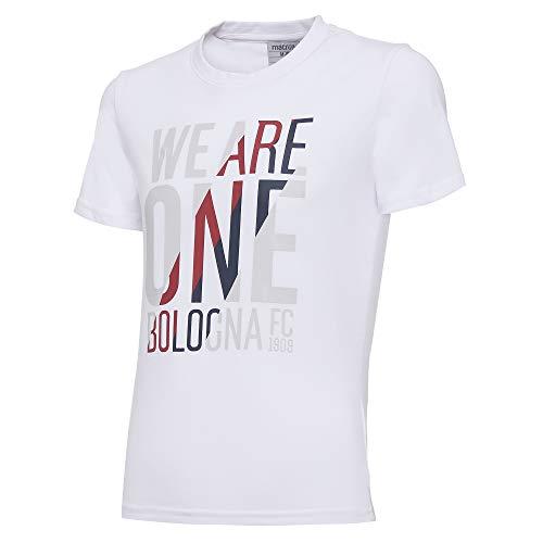 Macron Bfc Merch Ca Camiseta Tifoso Jersey Cottonpoly Bia Jr, algodón para niño, Blanco, Bologna FC 2020/21 niño, JL