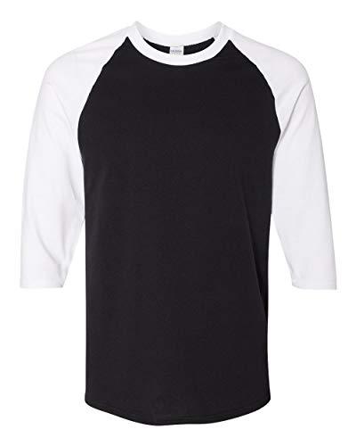 Gildan. Black/ White. M. 5700. 00191675038891
