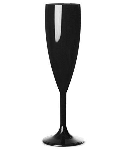 6 Flûtes à champagne incassables 18,7 cl, polycarbonate noir