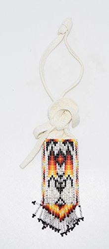 Colorful Hand Beaded Medicine Pouch