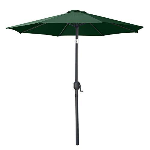 ABCCANOPY 230cm Sonnenschirm im Freien Wasserabweisende Bespannung -Gartenschirm Marktschirm,grün