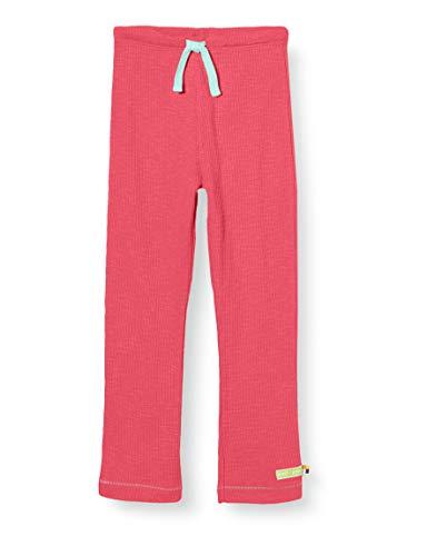 loud + proud Mädchen Pant Waffle Knit Organic Cotton Hose, Rosa (Azalea Aza), (Herstellergröße: 74/80)