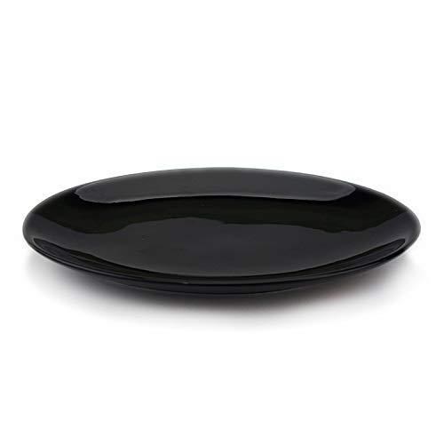 CAIJINJIN Tazón Platos placa de cerámica del vajilla de alta calidad de la tinta pescados del color de la placa de cerámica del vajilla del hotel placa de cerámica Vajilla, Negro