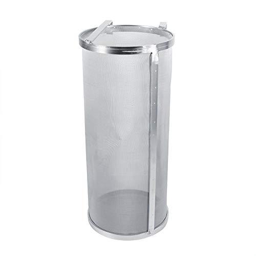 Bier Filter, 13,8 Zoll Höhe Homebrew Edelstahl Hopfen Spinne Bier Filter mit Haken Griffe New Hopfen Filter Dry Hopper Filter