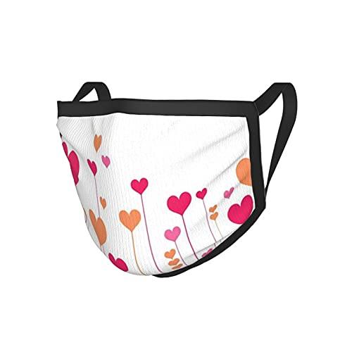 2 unids/lote Mascarilla de cara para adultos abstracta corazón flores flores románticas amor boda aniversario tema 20x15cm