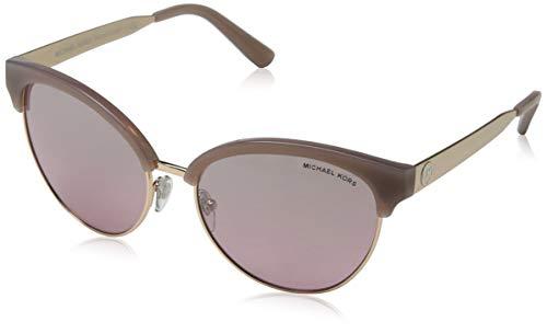 Michael Kors Damen Amalfi 33097E 56 Sonnenbrille, Gold (Milky Pink/Rose Gold Tone/Blueshsilverflash)