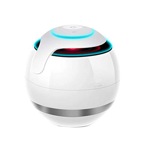 Qinghengyong Bluetooth Wireless Stereo Speaker Smartphone Tablet Laptop ball hands-free LED Light Round Ball Hands-free Portable Sound Box white