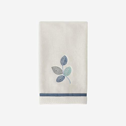Croscill Mosaic Leaves Spa Fingertip Towel, Light Cream