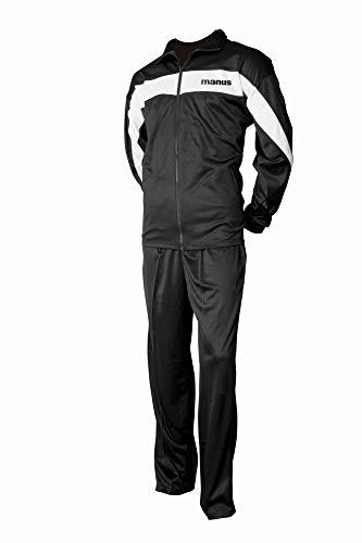 manus Jogginganzug für Kinder - Gr. XS = 150 cm, schwarz-Weiss