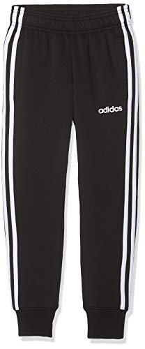Adidas Youth Boys Essentials 3 Stripes, Pants Bambino, Black/White, 13-14A