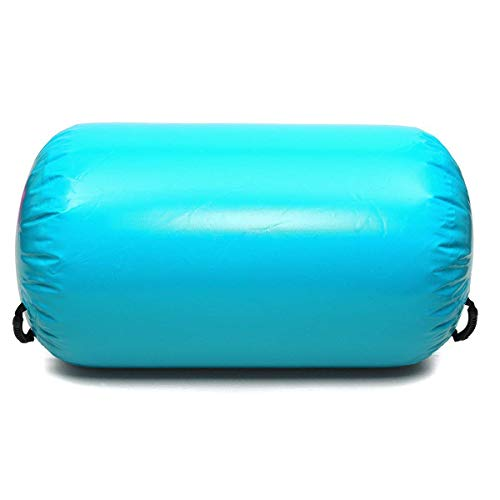 Minetom Air Roll 100cm Aufblasbare Luft Rollen Yoga Roll Gym Air Barrel Übung Spalte mit Pumpe