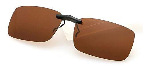 DDZKA Gafas de solNuevo clip unisex polarizado en gafas de sol Miope de conducción de visión nocturna Lente de visión Anti-UVA Anti-UVB