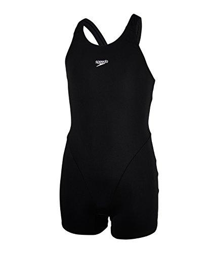 Speedo Mädchen Essential Endurance Plus Swimwear, Schwarz, 30