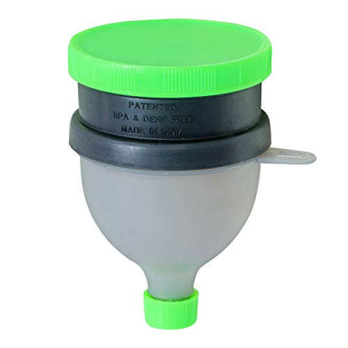 Fegore Protein Funnel with Pill Compartment-Water Bottle Funnel (Green)