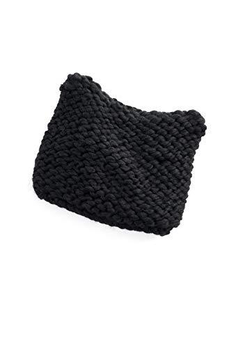 Gorro feminino LC Lauren Conrad, de tricô grosso, preto