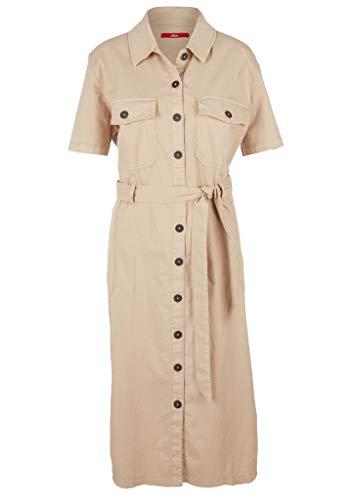 s.Oliver Damen Kleid kurz beige 38
