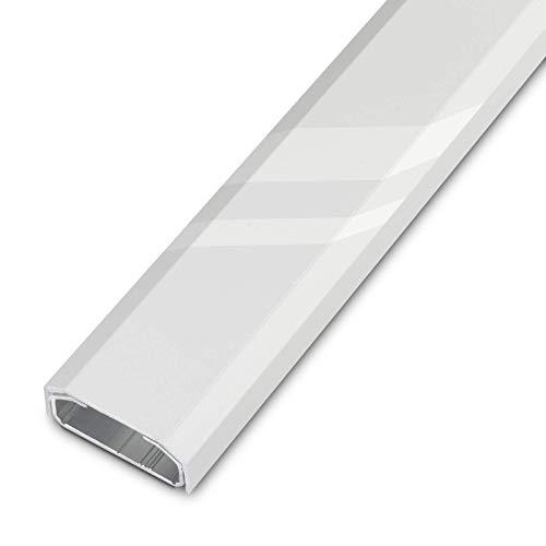 Design Kabelkanal 1100 x 50 x 20 mm weiß gepulvert mit Platz für viele Kabel Kabelführung Kabeldurchführung Design trifft auf Funktion von SCHÜCO ALU COMPETENCE
