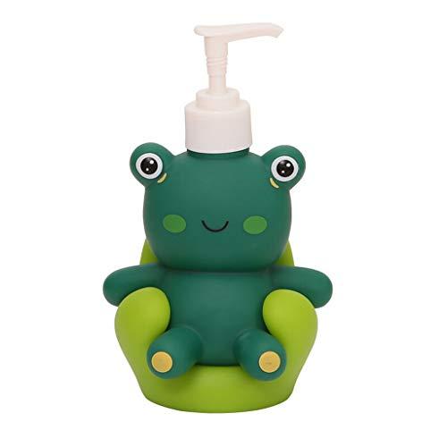 Seifenspender 200ml Push-Typ Seifenspender Tierform-Emulsion Separator für Badezimmer Küche (Color : Little Frog, Größe : 200ml)