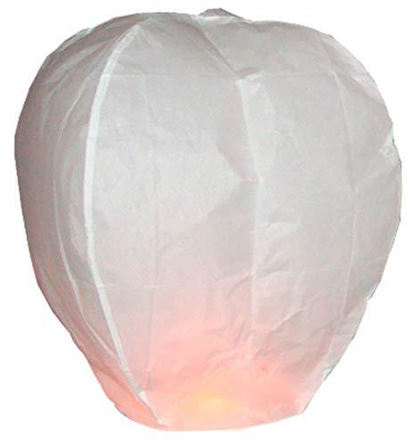 Balloominate 10 x Lanternes Blanches Chinoise celestes Volantes biodégradable pour fêtes, Moments romantiques et Magiques