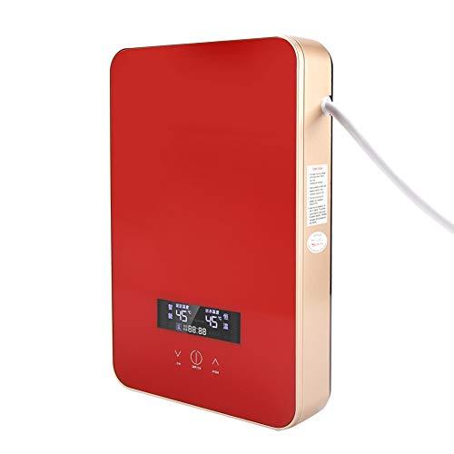 LGLFDJ Calentador De Agua Termostático De Frecuencia Variable con Pantalla LED, 220V 8500W Sinks Sin Tanque Eléctrico Calentador De Agua Caliente para El Hogar Ducha De Baño Rojo, Seguro Y Duradero
