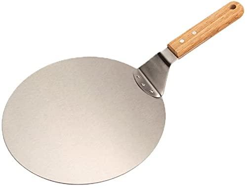 Pastel Redondo Para Servidor De Pizza Pastel Pastel Acero Inoxidable Plata Metal-10inch