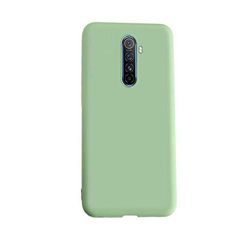 Henxunton Funda para Realme X2 Pro, Liquida Silicona Carcasa Suave Funda Case Cover para Realme X2 Pro Smartphone (Matcha Verde)